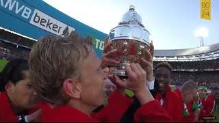 [Exclusive footage] Celebrations of the Feyenoord players after winning the Dutch Cup