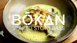 Making Seared Stonebass with with Guillaume Gillan of Bokan - Fine Dining Recipes