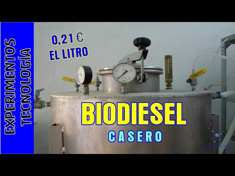 Como hacer Biodiesel a 020 euros el litro. Making excellent and cheap biodiesel at home.
