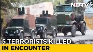 Lashkar Operative Among 5 Terrorists Shot Dead In Shopian