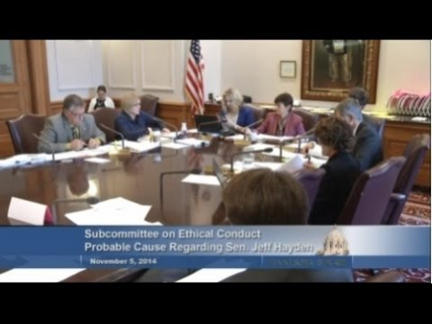 Subcommittee on Ethical Conduct Delays Action