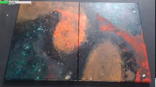 The Orange Morass.  Acrylic on Canvas.