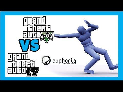 GTA 5 VS GTA 4 PC : Euphoria ragdoll physics comparison