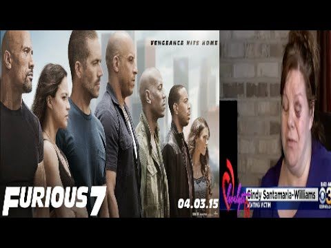 Pitiful PA~ Lady gets her ass whooped during Fast and Furious 7 for telling teens to keep it down
