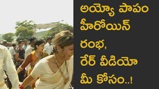Telugu Actress Rambha rare video