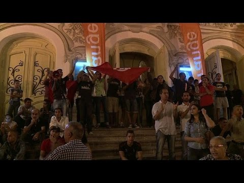 Anti-terrorism protest held in Tunis after beach attack