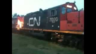 No doubt, the best maneuver of an EMD GP9 CN that you can see