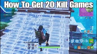 How To Get 20+ Kill Games - Console Player (Fortnite Battle Royale)