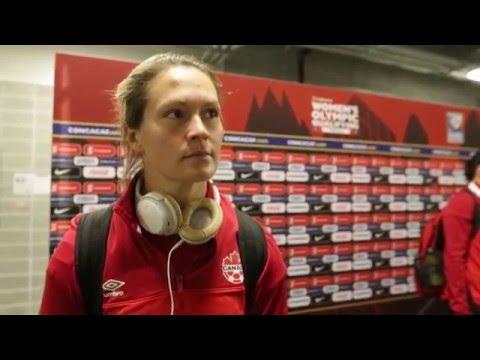 Erin McLeod - Trinidad and Tobago vs Canada Post-Game Feb 14th, 2016