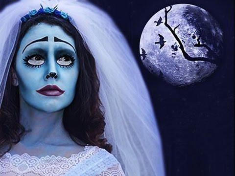 Как я пойду на Halloween.Труп невесты face art tutorial. + видео ужастик