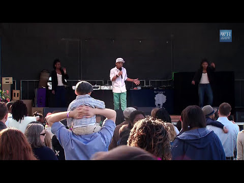 2014 White House Easter Egg Roll: Cam Anthony Performs