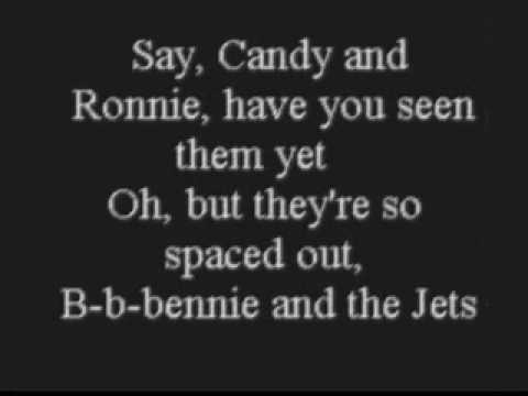 Elton John - Bennie and the Jets **with lyrics** Music Videos