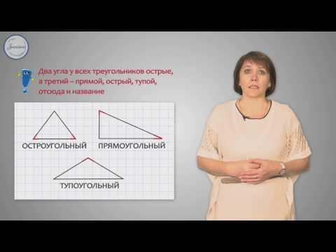 Математика 3 класс. Виды треугольников