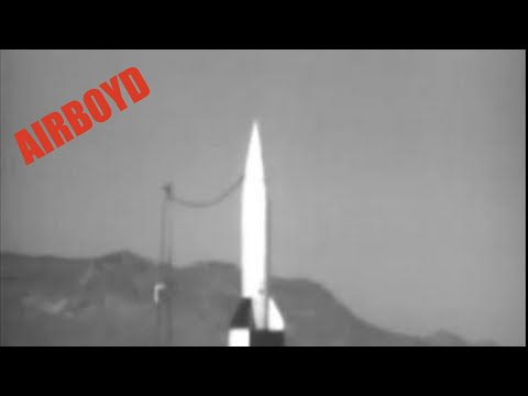 National Archives Identifier: 24580 Reel 1 shows a V-2 rocket assembled from German parts at White Sands Proving Grounds, New Mexico. The alcohol tank, oxyge...