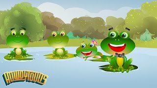 The Little Green Frog song - Rainbow Songs Music Videos for Kids by Howdytoons