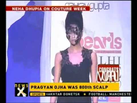 Neha Dupia at Delhi Couture Week