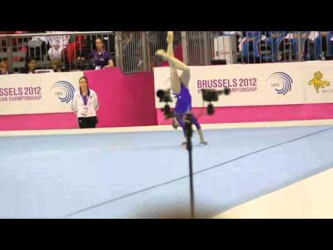 Anastasia GRISHINA RUS, Floor Senior Qualification, European Gymnastics Championships 2012