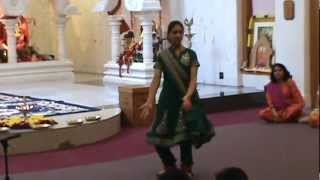 Shreya's Bharat Natyam Dance on Ek Dantaya Vakratundaya at Temple