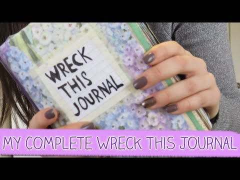 Adrianna Mary-Anne | MY COMPLETE WRECK THIS JOURNAL: flip through the finished journal with me!