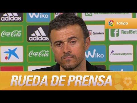 """Luis Enrique: """"Me ha gustado mi equipo en todo el partido"""""""