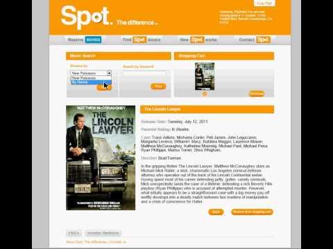 Reserving a DVD Rental online