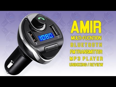 AMIR Multi-Function Wireless Bluetooth Car MP3 Player | Unboxing and Review