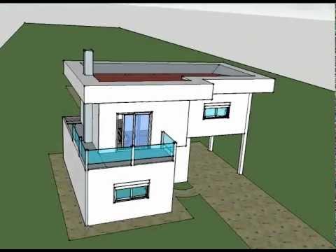 Casa moderna gessofar placa cimenticia youtube for Casa moderna 7x7
