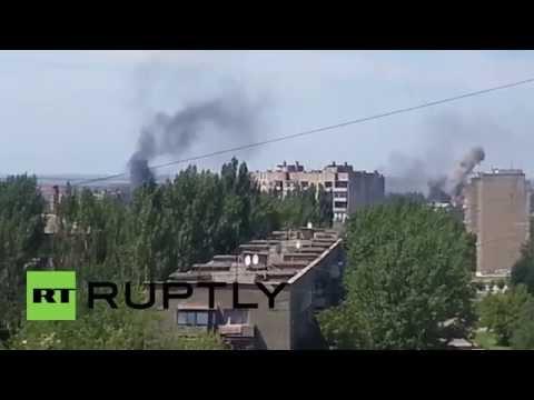 Ukraine: Smoke rises as fierce fighting erupts near Donetsk
