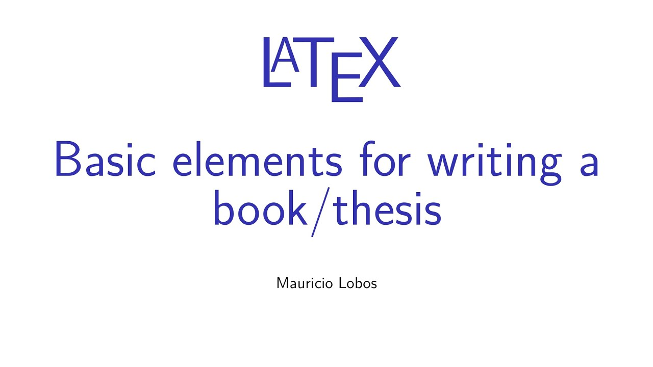 latex files for a book or thesis Latex/thesis/thesishtml contents 1 introduction 1 2 getting started 2 3 splitting a large document into several files 4 4 changing the document style 6.