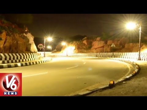 Yadagirigutta 2nd Ghat Road Decked-up With New LED Lights | V6 News