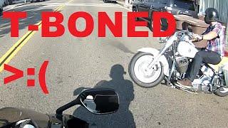Cruiser hits Sport bike (Full Video)
