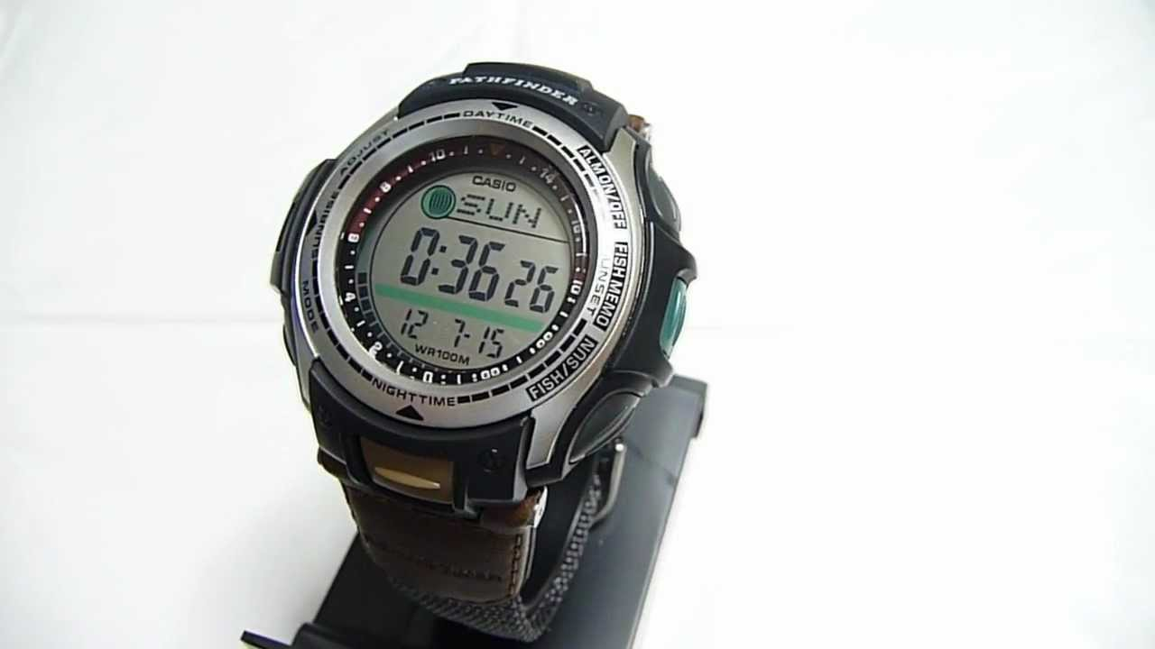 Casio pas 400b 5 pathfinder fishing gear digital watch for Casio fishing watch