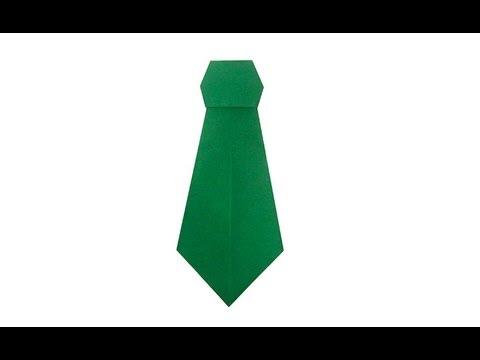 Оригами галстук схема
