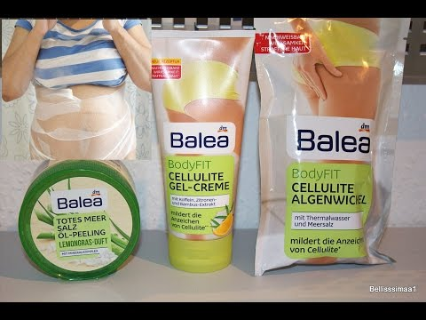 balea cellulite algenwickel test