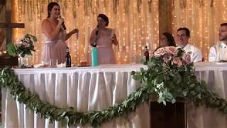 Brenneman Wedding Maid of Honor speech/rap, August 4, 2018