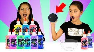 ALEXA Picks our Slime Ingredients!! |3 Color Slime| Sis vs Sis