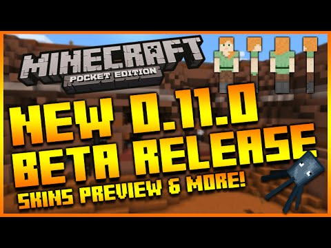 ★MINECRAFT POCKET EDITION 0.11.0 UPDATE - BETA RELEASE COMING NEXT WEEK + SKIN GAMEPLAY PREVIEW★