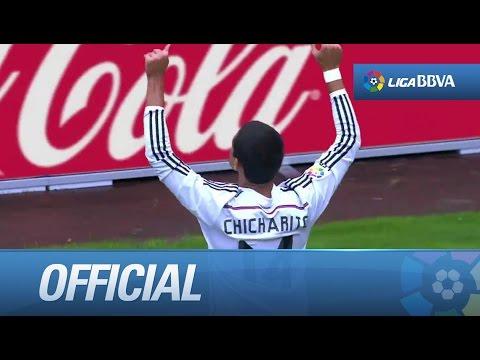Amazing goal of Chicharito (2-7) Deportivo de la Coruña - Real Madrid