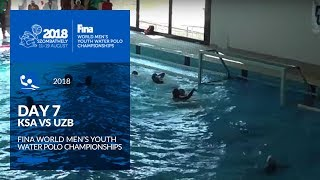 LIVE 🔴 | Water Polo - Day 7 (SAU-UZB) - 4th FINA World Men's Youth Water Polo Championships