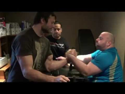 Arm Wrestling Training with Devon (The Vampire) Larratt 6'5, 238 lbs & Ian Carnegie 6'1, 352 lbs.mp4 Image 1