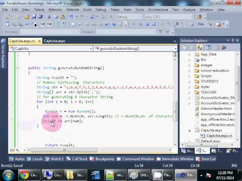 ASP NET with C#   Generating and validating Captcha
