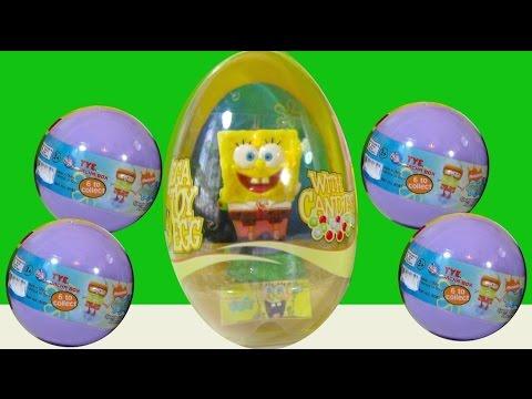 Huevos Sorpresa de Bob Esponja y Peluches Interactivos