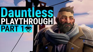 Dauntless Beginner Guide - Part 1 - From start to Unlocking repeaters - Tips and Behemoth Fights