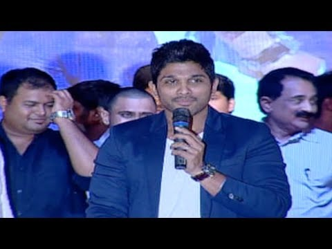Allu Arjun Mentioning Pawan Kalyan At Racegurram Audio Success Meet video
