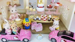 Baby doll rabbit and bread cooking cake shop toys car play 아기인형 토끼와 빵 요리 케이크 가게 장난감 자동차 놀이 - 토이몽