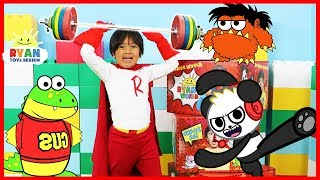 Ryan transforms to Kid Superhero Red Titan and introduce all his friends!!!