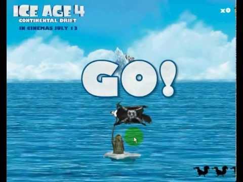 การเล่นเกม Ice Age 4 ผจญภัยเก็บลูกโอ๊ค