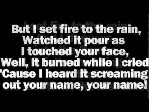 Adele - set Fire To The Rain Lyrics - New 2011 Single Hd video