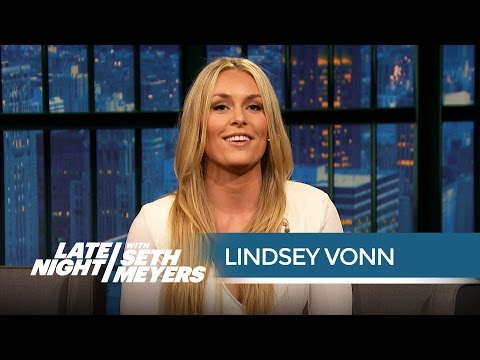 Lindsey Vonn Talks Dating Tiger Woods - Late Night with Seth Meyers