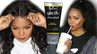 HOW I APPLY & REMOVE A LACE FRONTAL WITH THE GOT 2B GEL| Newstar Hair